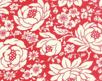 Clearance FABRIC HELLO DARLING Large Floral in Red by Moda 1/2 Yard