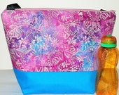 Insulated Large Lunch Bag Stylish Lunch Bag Work Batik lunch tote by BonTons