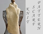 Easy Scarf Knitting Pattern, Instant Download, Open Work Scarf PDF Patterm, Winter Scarf Pattern, Unisex Knit Scarf Pattern