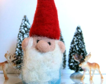 Wool Felted Gnome Ornament - Christmas ornament - Christmas Decor