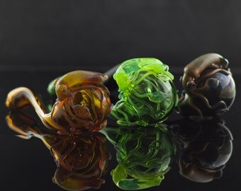 Squid Glass Sherlock Pipe Hand Blown Thick Wall in YOU CHOOSE the COLOR, Made to Order