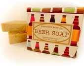 Beer Soap, Cold Process Soap Bar, Handmade Soap, Bar Soap, Palm Oil Free, Phthalate Free, Men's Soap, Gag Gift, Father's Day