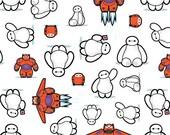 Disney Baymax Big Hero Six Kawaii cotton fabric by the yard-2 yards