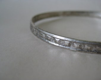 Sterling Bangle Bracelet Vintage Silver 925 Mexico