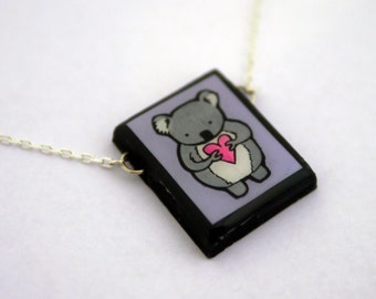 Lavender Koala Necklace