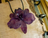 Real Orchid Jewelry - Fabulous Purple Cattleya -  tropical island hawaii summer wedding plum violet love fairy garden gypsy soul ooak unique