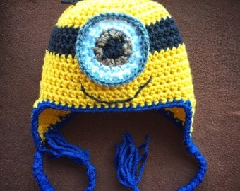 Minion Stuart Inspired Character Hat for All Ages