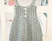 Instant download - Dress Crochet PATTERN (pdf file) - Sea Breeze Dress (sizes up to 10 years)