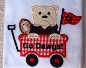 Georgia Bulldog UGA Bulldawg Game Day Spirit short Sleeved Onesie or Tshirt