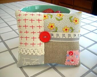 Pincushion, Pillow Pincushion, Embellished Pincushion, Handmade Pincushion, Sewing Supply