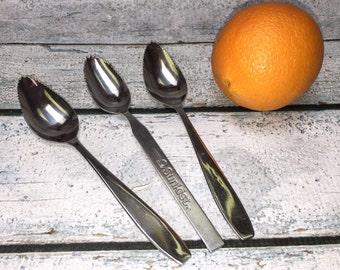 Vintage Sunkist & Florida Grapefruit Growers Premium Fruit Spoons Stainless Flatware Set 3