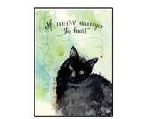 Handmade Cat Lover's Greeting Card