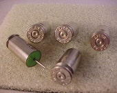 Bullet Casing Push Pins Nickel Plated .40 Caliber Set of 5