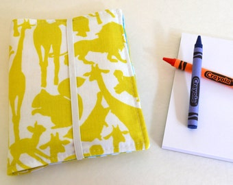 Crayon Wallet . 8 Crayons and Notepad Included . Zoo Animals . Birthday Party Favor . Birthday Gift for Children