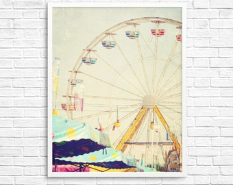 BUY 2 GET 1 FREE Carnival Print, Ferris Wheel Art, Toronto Wall Art, Toronto Carnival, Home Decor, Fine Art Print, Wall Decor, Nursery Decor