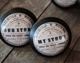 "Vintage Knobs The Books Series Newest Design - ""My Story"""