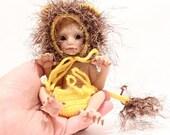 OOAK Lion  Baby Elf Elfin  - by Malga
