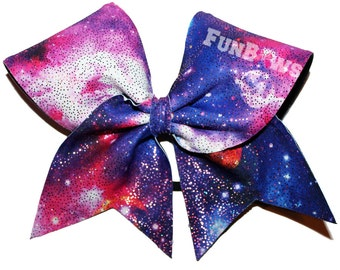 Out of this World, Galaxy Allstar cheer bow, on SALE ! By FunBows !