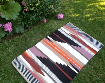 Hand Woven Wool Rug: The Tabor Summer in Orange