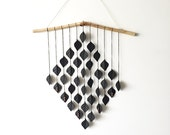 Large Very Black Diamond Drops, wall hanging, hanging mobile, home decor