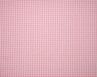 Pink Fabric, Pink Gingham Fabric with 3 mm Check, White and Pink Checked Cotton Fabric for patchwork and crafts