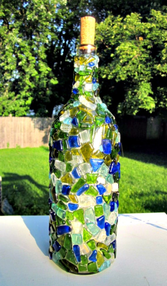 Wine bottle light recycled melted broken wine bottle glass - How do you melt glass bottles ...