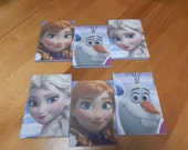 Up cycled Note Pads Party Favors Disney Frozen