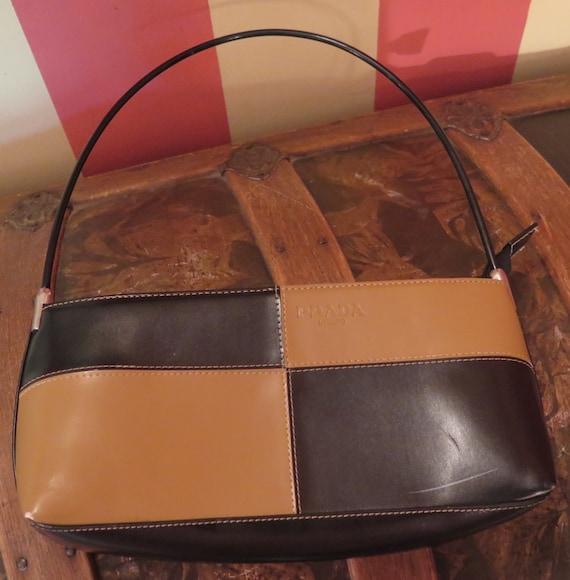 brown leather prada milano purse