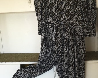 My Sweet One - 1980's Puff Sleeve Sweetheart Jumpsuit