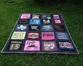 Nearly Full Size Tshirt Quilt Custom made with 20 Tshirt Squares