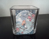 SALE Alice in Wonderland Inspired Glass Holder SALE