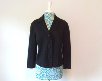 vintage 1960s jacket // elegant Hanro made in 60s Switzerland evening wool coat