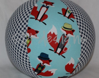 Fabric Balloon Ball TOY - What does Mr. FOX say? - Great Birthday Gift party decor