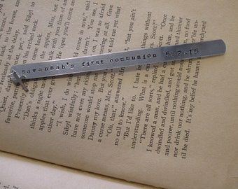 The Francis Bookmark- Hand Stamped Custom Bookmark