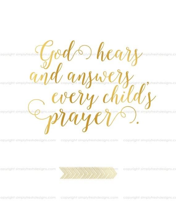 God Hears and Answers Prayer