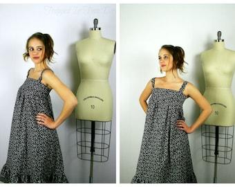 Black Skull Print Sundress, Spring Dress, Tunic Dress, Womens Dress, Sleeveless Dress, Black Dress, Summer Dress
