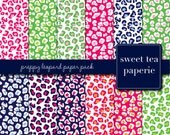 Preppy Leopard Digital Paper Pack (Instant Download)