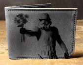 wallet, leather wallet, mens leather wallet, star wars wallet, stormtrooper