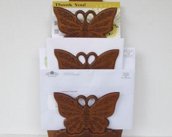 Wood Butterfly Wall Organizer