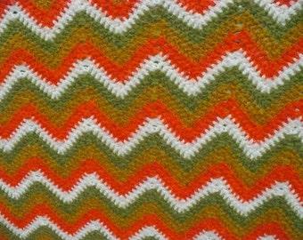Handmade Crochet Lap Blanket Throw Afghan