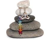 Meditation Yoga Chakra Rock Cairn, Reiki, Centered, Om, Buddha, Relax, Enlightenment, Wisdom, Inner Peace, Altar, Mantra, Namaste Desk Gift