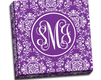 "Monogram Canvas Print - Personalized Custom Canvas Print -  12""x12"" to 36""x36"" - 1.25"" Deep - Gallery Wrapped Canvas - artstudio54"