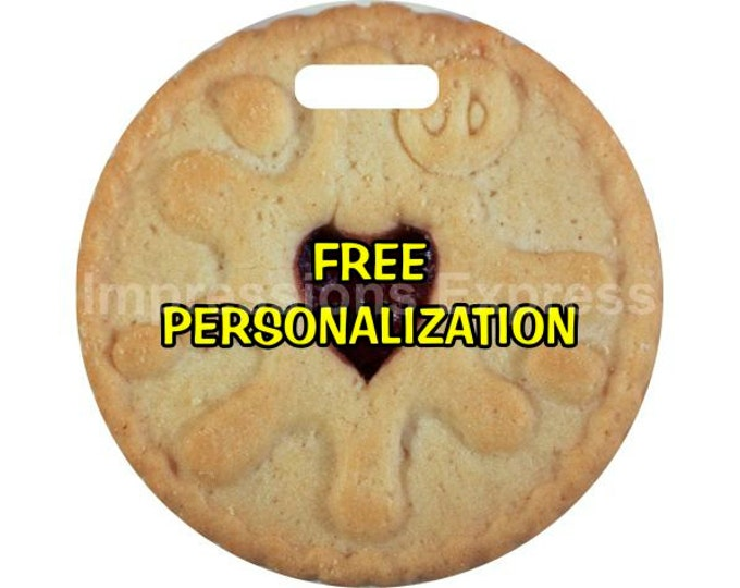 Jam Filled Cookie Personalized Luggage Bag Tag