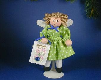 Birthday Fairy Clothespin Doll; Fairies for Birthdays; Birthday Flower; Birthstone and Flower Fairy