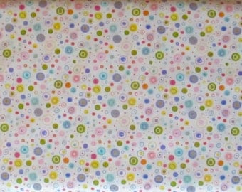 Pink Blue Pastel Circle Dot Fabric - Flutter - Timeless Treasures