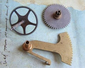 Steampunk Destash - Vintage WATCH PARTS gears - Steampunk parts - v92  Listing is for all the watch parts seen in photos