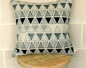 Cushion Cover - 'Triangulation' in Storm
