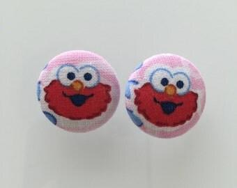 Elmo Fabric Buttons - set of 4