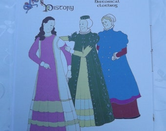 Closed Loose Gowns, Kirtle and Sleeves Sewing Pattern Reconstructing History Clothing Pattern   Rh 204