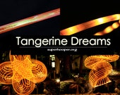 "LED Hoop - 'TANGERINE DREAMS'  - 3/4"" Polypro. Made in any size 28"" - 36""."